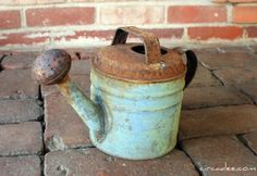 old water can...Love this color!