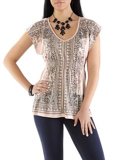 Almost Famous Baroque Print Tunic.