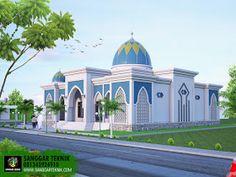 Bungalow House Design, House Front Design, House Plans Mansion, Mosque Architecture, Classic House Design, Beautiful Nature Scenes, Beautiful Mosques, Building Exterior, Home Design Plans