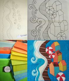 from idea to finished quilt  Fast-Piece Applique helps make it happen On the Boardwalk