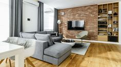 89 m2 z czerwoną cegłą | Bajkowe Wnętrza