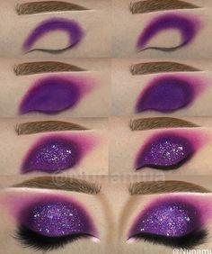 Purple Eye Makeup, Makeup Eye Looks, Colorful Eye Makeup, Eye Makeup Art, Dark Makeup, Cute Makeup, Makeup Geek, Eyeshadow Makeup, Makeup Cosmetics