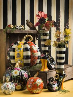 Extend a happy haunting throughout your home with our Flower Market Pumpkin Selection and Steppin' Out Vase. Shop our fall decor here.