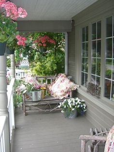 Note to self:  Paint the front porch & plant some spring hanging baskets soon!