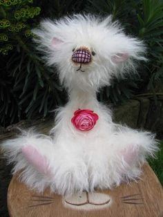 This is Burble by Chloe, Dusty Attic Bears.