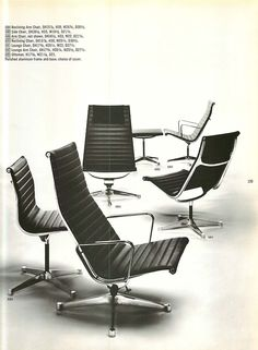 Eames aluminum group as depicted in a 1965 Herman Miller Collection catalog @hermanmiller @hermanmillerap