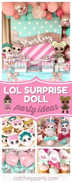 Take a look at this adorable LLO Surprise Doll birthday party. The cookies are s… - Girl Party Ideas Birthday Party Games For Kids, 6th Birthday Parties, Surprise Birthday, Cake Birthday, 7th Birthday, Birthday Ideas, Birthday Cookies, Surprise Party Decorations, Surprise Ideas