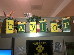 #Baylor blocks I made for my office #BaylorEverywhere