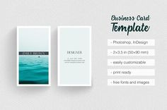 Clean Photographer Business Card by Moving Parallels on @creativemarket