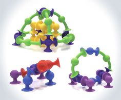 Squigz - Suction Cup Building Toys | DudeIWantThat.com