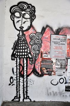 Sonke Greek street artist. Athens. Exarchia.