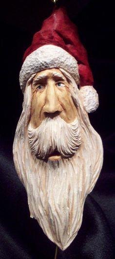 Hand Carve Old World Santa Ornament, Folk Art (193) I love this Santa. This ornament is no longer available but still love looking at his pic.