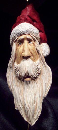 Hand Carve Old World Santa Ornament