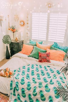 New Room Decor Bedroom Boho Blue Ideas My New Room, My Room, Dorm Room, Cute Bedroom Ideas, Trendy Bedroom, Bed Ideas, Blue Bedroom, Bedroom Bed, Blue Bedding