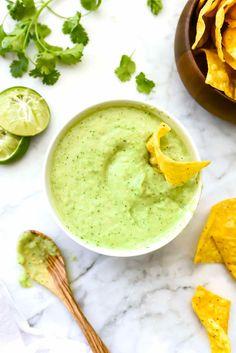 Creamy Avocado Salsa Verde   foodiecrush.com