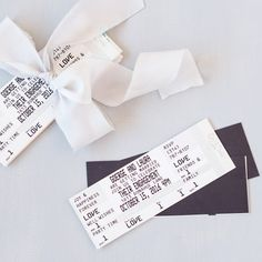 Make your guests feel like rock stars when you send them personalized wedding save the date ticket magnets.