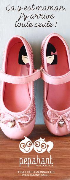 NOUVEAU CONCEPT : Partez du bon pied avec vos enfants et commandez vos étiquettes INTUITIVES de chez Pepahart. Les enfants se feront un plaisir de mettre leur chaussures tout seul, comme les grands. Pepahart facilite la vie des parents !!! 8€ les 8 étiquettes.