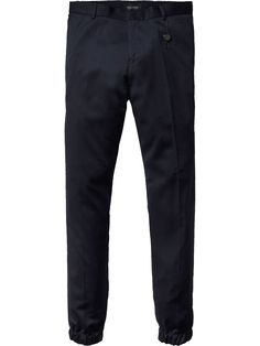 Thorne - Cool Wool Jogger Trousers   Dropped Crotch Regular Slim Fit