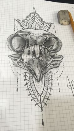 Alexbreak : Owl's skull ornemental