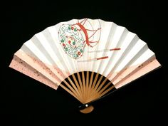 Small Hand Fan Japanese Vintage Fan Paper by VintageFromJapan