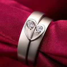 The product Natural Diamond Rings Couple Set Genuine 0.10ct SI/H Diamond 18K Gold Wedding Band Engagement Ring For Men Women Heart is sold by Starfield Jewelry   Tictail lets you create a beautiful online store for free - tictail.com