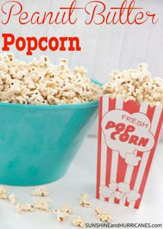 Get ready for a FUN and EASY snack, perfect for family movie night or a party! This Peanut Butter Popcorn is the perfect combo of sweet & salty and a surefire simple crowd pleaser! Make in minutes with 4 ingredients that are pantry staples! Teens and tweens LOVE it, too!  # ad #stormstockup