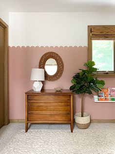 Create this darling Pink Scalloped Wall in a little girls room Easy Painting Projects, Half Painted Walls, Painted Headboard, Girls Room Paint, Room Wall Painting, Pink Walls, Pink Bedroom Walls, Little Girl Rooms, Home And Deco