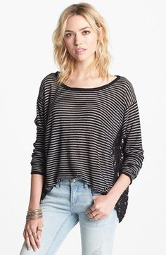 Free People 'Love Me Do' Stripe Pullover $58.80