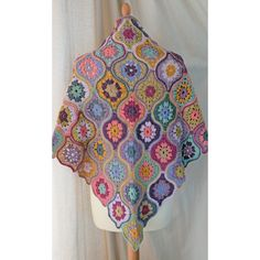 I am so excited to at last be able to show you my new crochet design called Mystical Lanterns.      The shawl design uses 13 shades of Jami...