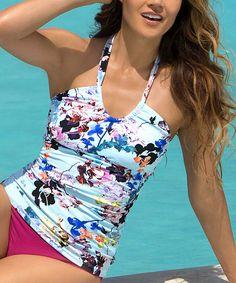 fee6b193ec HAPARI Light Blue Whitsunday Scoop Tankini Top - Plus Too. Swimwear  FashionModest ...
