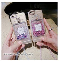 Luxus-Parfüm-Flaschen Treibsand Diamant mit dem Seil Handyhülle für Iphone6/6s/6plus