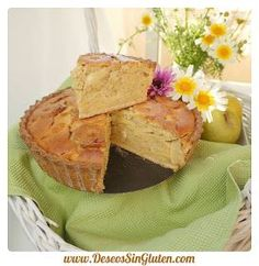Deseos Sin Gluten: TARTA DE MANZANA CHEESE CAKE CON CANELA SIN GLUTEN Snack Recipes, Healthy Recipes, Snacks, Healthy Food, Cheesecake, Apple Pie, Camembert Cheese, Recipies, Chips