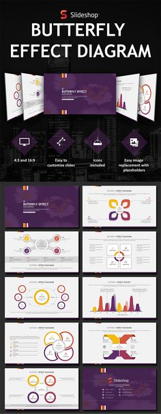 Butterfly Effect - PowerPoint Templates Presentation Templates