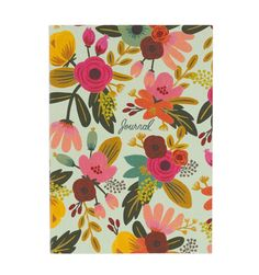 Rifle Paper Co. Mint Floral Smyth Sewn Journal ($15):