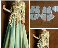 15 Ideas Diy Clothes Line Link Skirt Patterns Sewing, Clothing Patterns, Hijab Style, Gown Pattern, Muslim Dress, Diy Fashion, Fashion Design, Mode Hijab, Indian Designer Wear