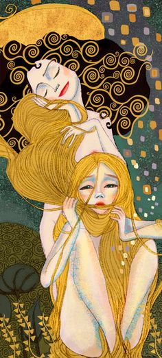 The Art Of Animation, Elisa (Tangled ala Klimt style)