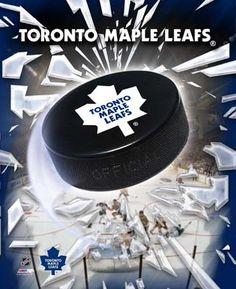 Toronto Maple Leafs 2005 - Logo / Puck Photo Print x Flyers Hockey, Boston Bruins Hockey, Hockey Teams, Sports Teams, Hockey Stuff, Hockey Rules, Chicago Blackhawks, Hockey Players, Kings Hockey