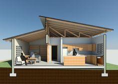 Particular Hip Main Ridge Dutch Framing Method . House Roof Design, Tiny House Design, Facade House, Modern House Design, Style At Home, Espace Design, Roof Architecture, Roof Structure, Tiny House Cabin