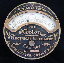 Antique VOLTMETER - Norton Electrical Instrument Co.