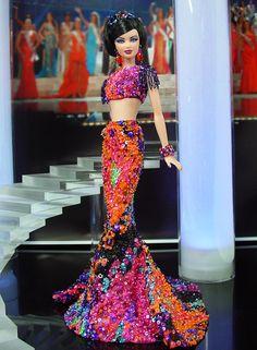 Barbie doll evening dresses  12.25.2 qw