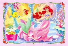The Little Mermaid Ariel, Flounder and Sebastian Wallpaper