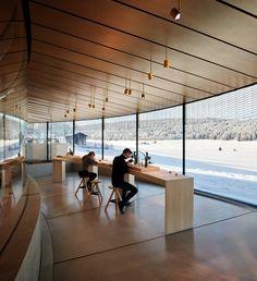 Musée Atelier Audemars Piguet is a Contemporary Celebration of Time Audemars Piguet, Glass Pavilion, Curved Glass, Lausanne, Contemporary Architecture, Interior Architecture, Interior Design, Design Museum, Architecture