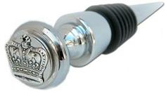 Wine Bottle Stopper with Silver Crown @Classic Legacy