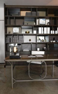 AKAR DE NISSIM's Lifestyle in our Galerie - Dining Chair OLD BUND - Desk SCRIBE - Desk Lamp SONG and Console TOISE - Wall Sconce CLOUD and Home Accessories