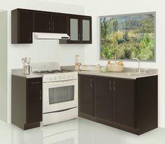 imagenes de cocinas integrales modernas   Cocinas integrales económicas Modern Kitchen Cabinets, Kitchen Cabinet Design, New Kitchen, Kitchen Decor, Flat Interior Design, Stylish Interior, Small Apartment Decorating, Home Room Design, Cuisines Design