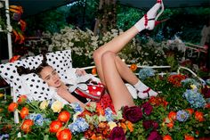 """Never was the song """"I'll Bring You Flowers"""" more appropriate than at Sophia Webster's SS14 presentation. #LFW #SS14 #SophiaWebster"""