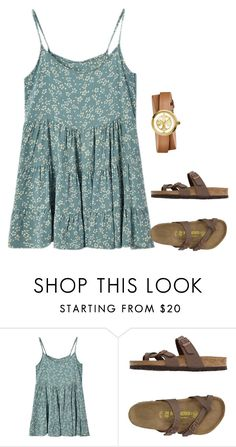 A fashion look from February 2017 featuring sleeveless dress, flat sandals and leather-strap watches. Browse and shop related looks. Cute Summer Outfits, Simple Outfits, Pretty Outfits, Fall Outfits, Casual Outfits, Cute Outfits, Cute Fashion, Teen Fashion, Fashion Outfits