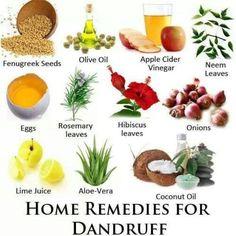 Home Remedies for Dandruff..