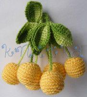 Cute stash busters/ or flea market idea Irish Crochet, Crochet Motif, Crochet Stitches, Knit Crochet, Crochet Fruit, Crochet Food, Crochet Flowers, Deco Fruit, Crochet Toys Patterns