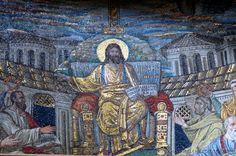 Santa Pudenziana basilica's main mosaic. #Rome #Italy